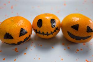 Halloween Kürbis Mandarinen