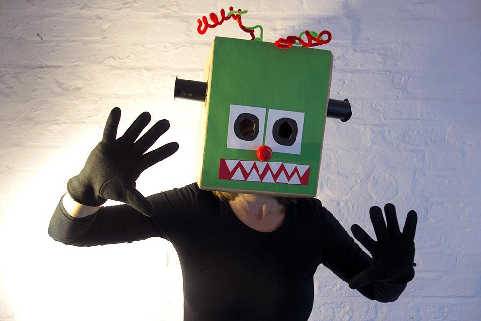 Kostüm Halloween Monsterkopf