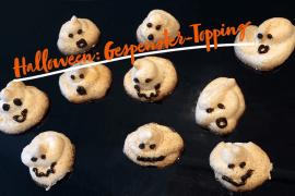 Lustiges Gespenster-Topping für das Halloween-Buffet