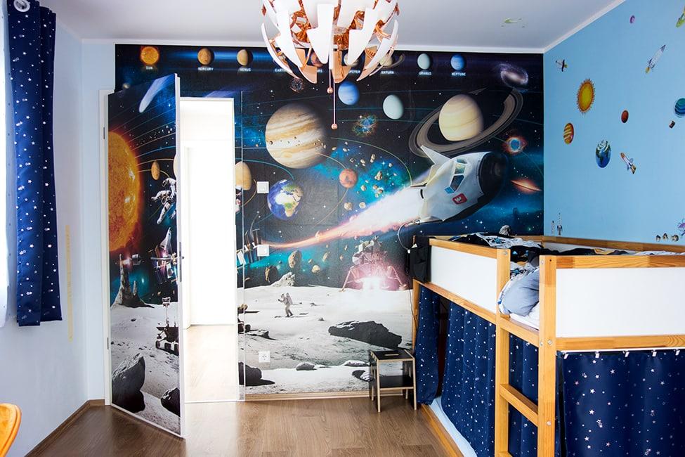 Tolle Ideen für ein cooles Weltraum-Kinderzimmer: 3... 2... 1... Start!