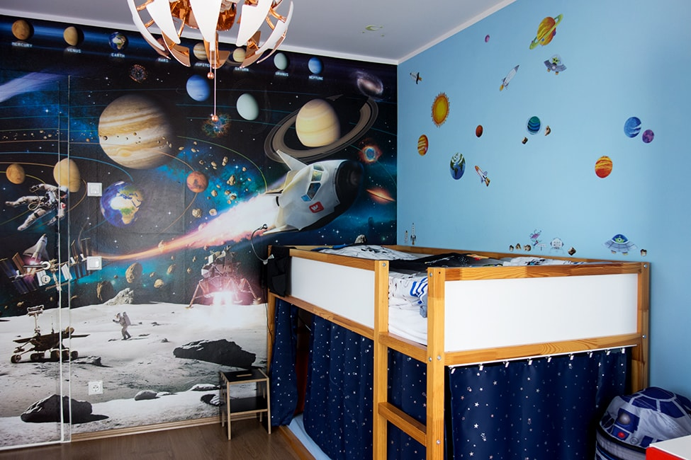 Kinderzimmer Weltraum Space Weltall Astronaut