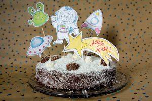 Kindergeburtstag Weltraum Weltall Astronaut Kuchen