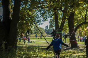 Slackline Nomadenland Volkspark Potsdam