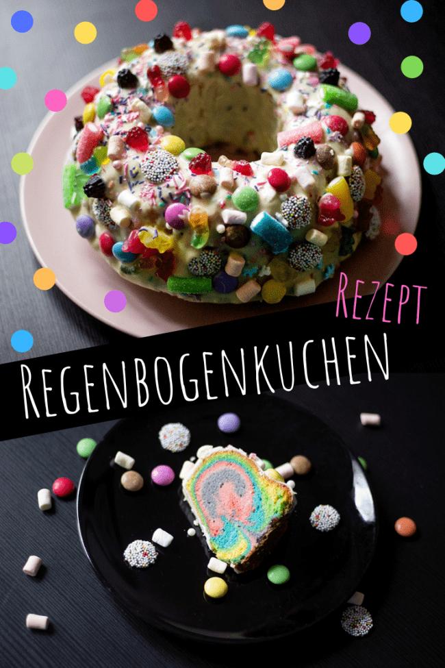 Rezept: Ein bunter Regenbogenkuchen