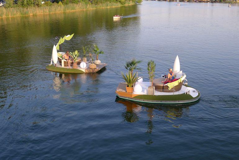 Insel Floß Boot Potsdam mieten