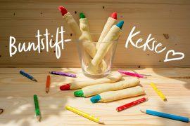 Rezept: Buntstift-Kekse für die Einschulung