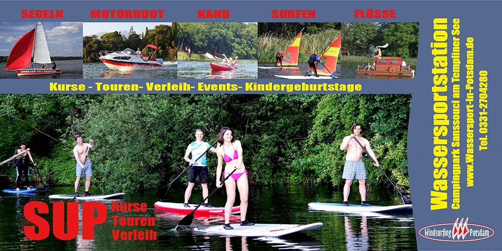 Wassersport in Potsdam Bootsverleih