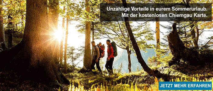 Chiemgau Karte Familienurlaub Reisen mit Kind