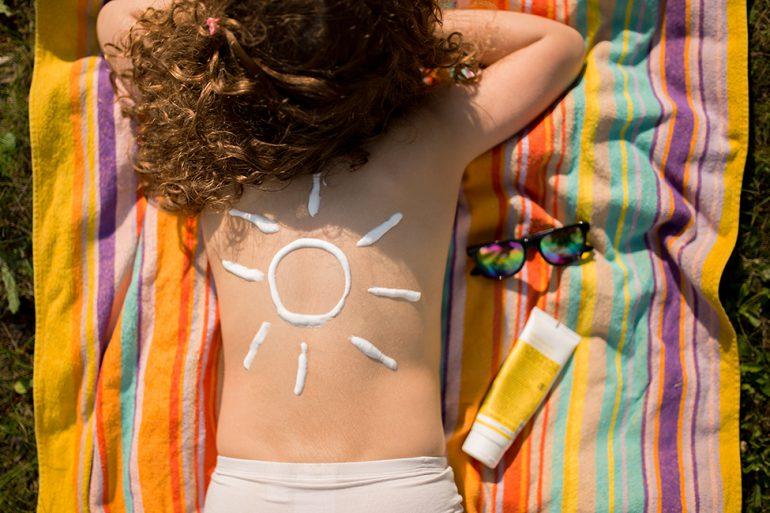 sonnenschutz bei babys und kindern, sonnencreme für kinder