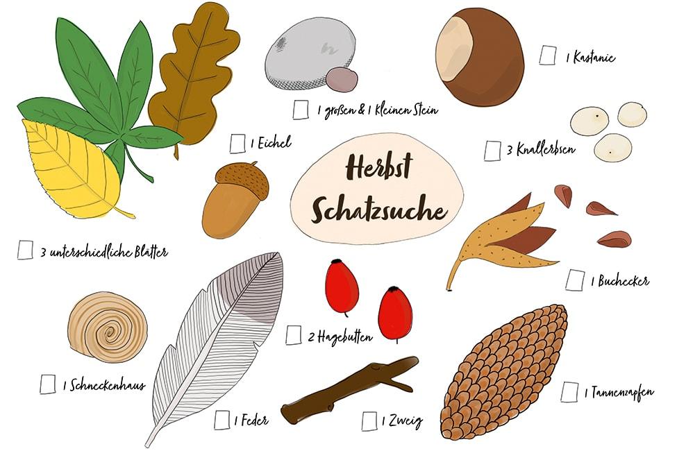 Herbst Schatzsuche Herbstschatzsuche Download Vorlage