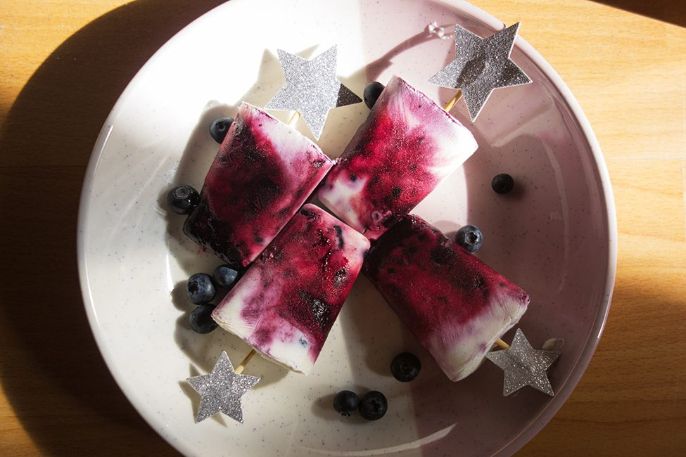 Heidelbeer-Joghurt-Eis Eis selber machen