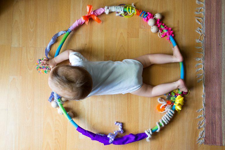 DIY Sensorikreifen Baby Spielzeug