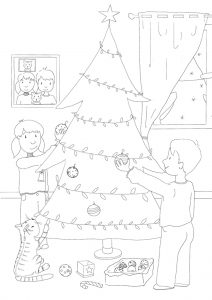 freebie geschenkanhänger ausmalbild weihnachten weihnachtsbaumanhänger download kostenlos