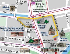 Route Laternenumzug Unterwegs im Licht
