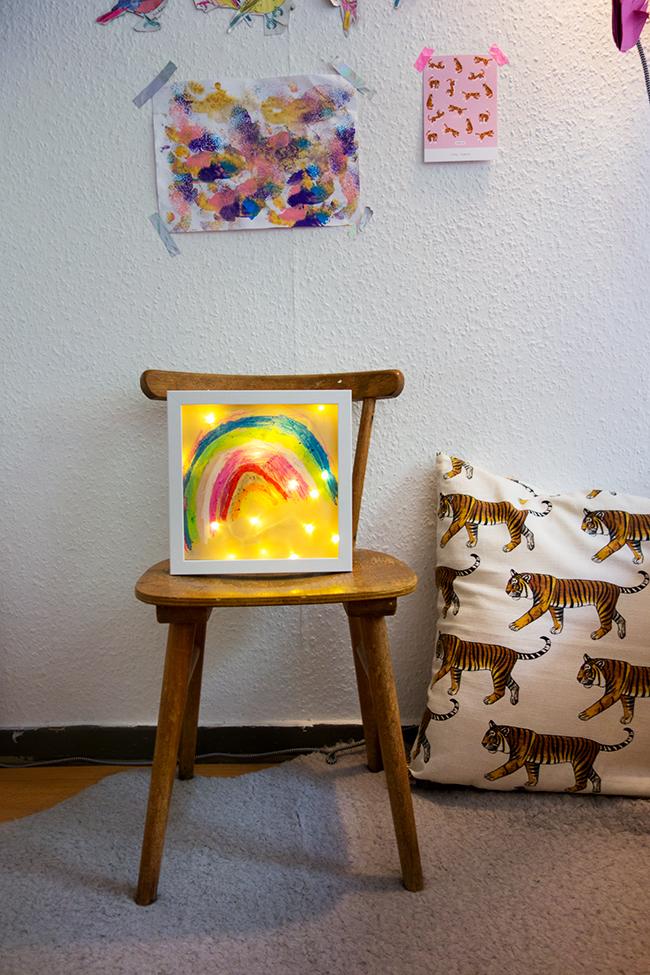 Leuchtbild für das Kinderzimmer DIY Kinder