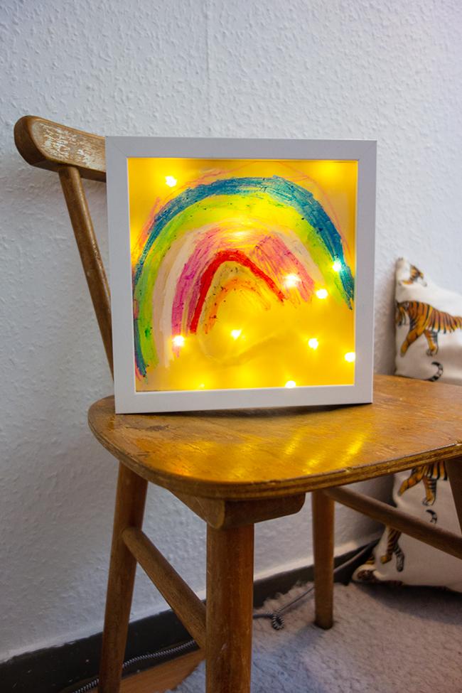 Leuchtbild für das Kinderzimmer Kinder basteln