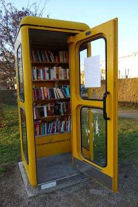 Bücherzelle Büchertelefonzelle Bornstedt Potsdam