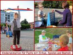 Kinderanimation mit Zirkus, Spielen und Basteln