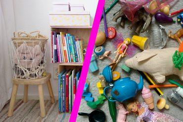 Unordnung im Kinderzimmer Aufräumen Spiele Ordnung