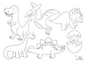 Dinosaurier Malvorlage kostenfrei ausmalen Kindergeburtstag Freebie Download