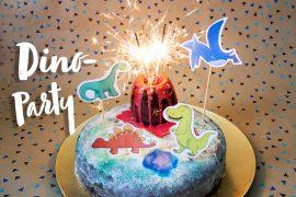 dinosaurier geburtstag dino party kindergeburtstag ideen downloads freebie kuchen
