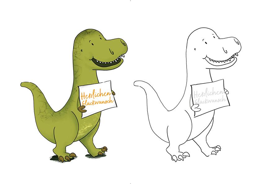 geburtstagskarte glückwunschkarte dinosaurier dino kostenlos download freebie