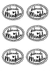 gebrannte mandeln freebie kostenloser download etikett rezept tüte