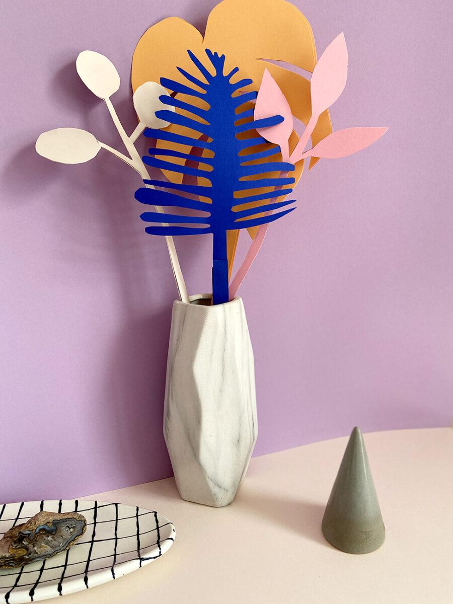 Papierblumen DIY Muttertag basteln