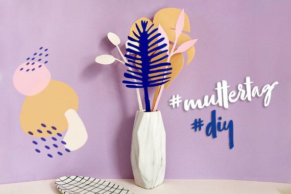Papierblumen basteln DIY Muttertag