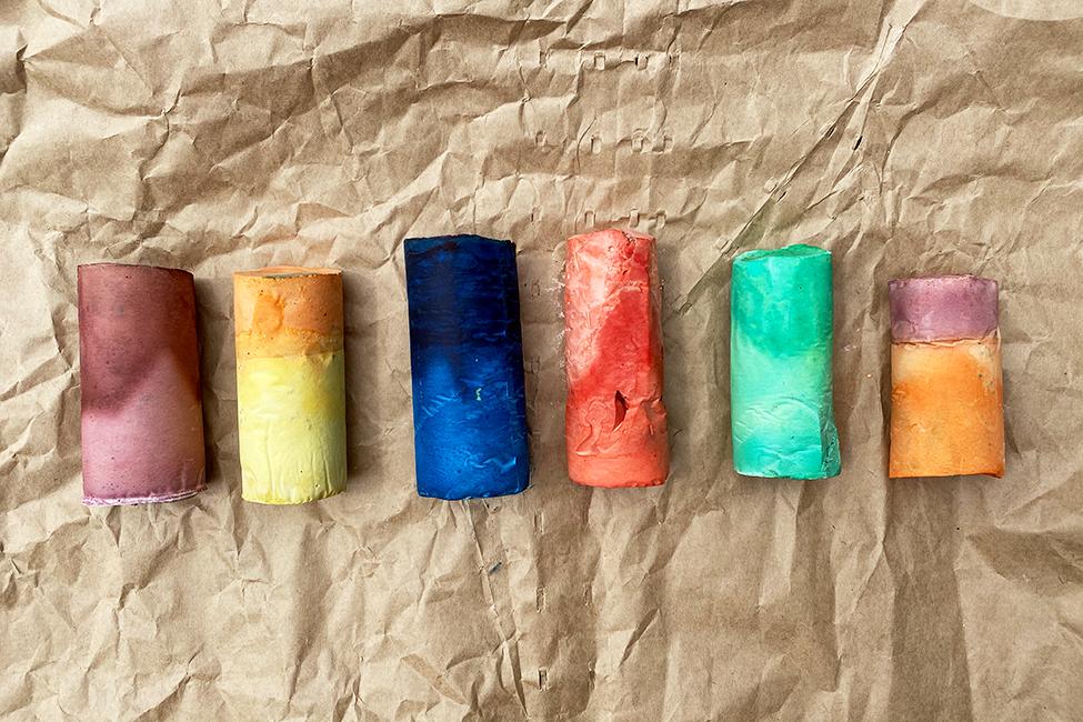 DIY Kreide Sommer basteln Kinder