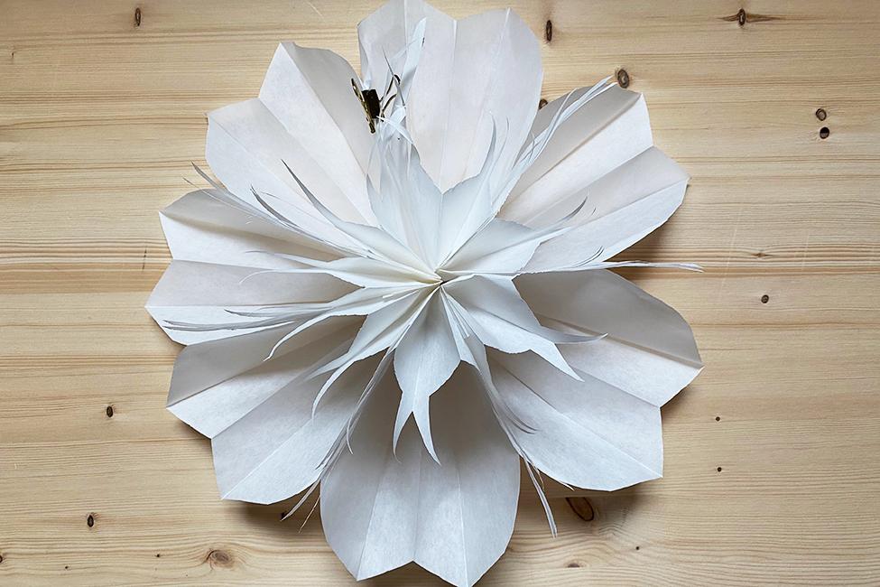 Bastelideen Papier Party Deko Blumen