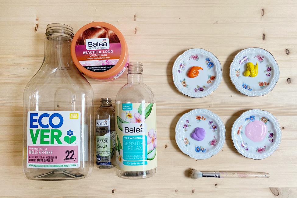 Bastelideen Verpackungen Upcycling DIY