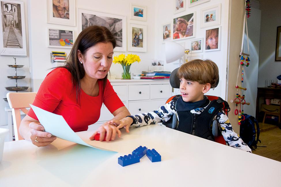 Leben mit einem behinderten Kind Interview Familie