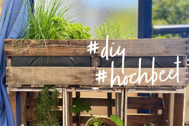 Hochbeet für den Balkon DIY Garten