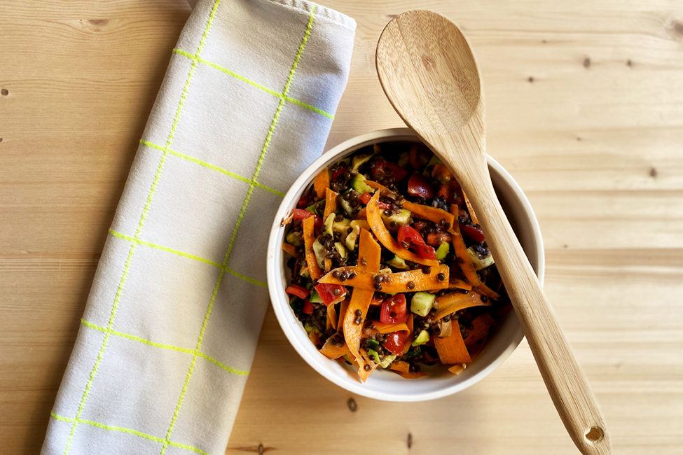 Linsen Salat Rezept Familie Mittagessen