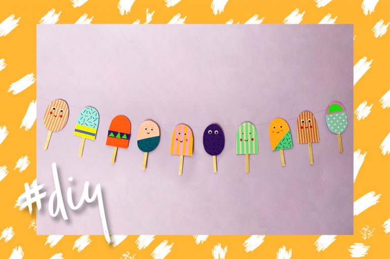 Eis-Girlande DIY Sommer basteln