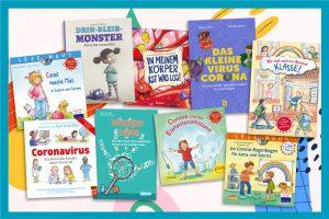 Corona-Kinderbücher lesen Virus Gesundheit