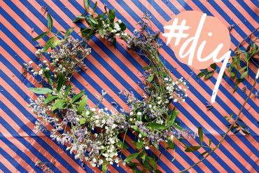 Blumenkranz selber machen basteln DIY Naturmaterialien