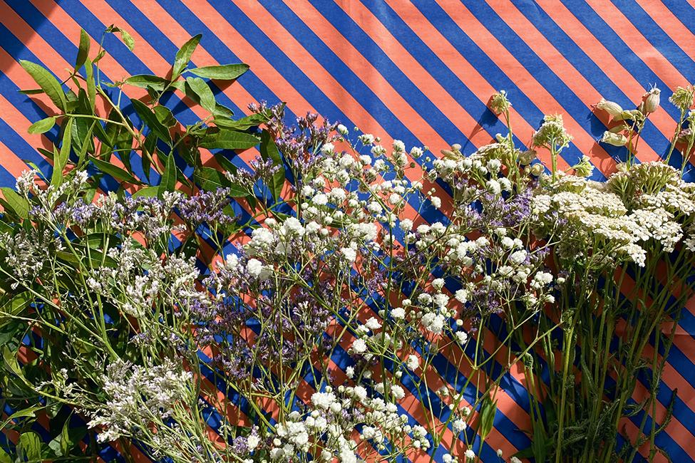 Naturmaterialien Blumenkranz diy basteln
