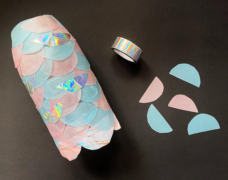Laterne selber basteln Fisch Meerjungfrau DIY