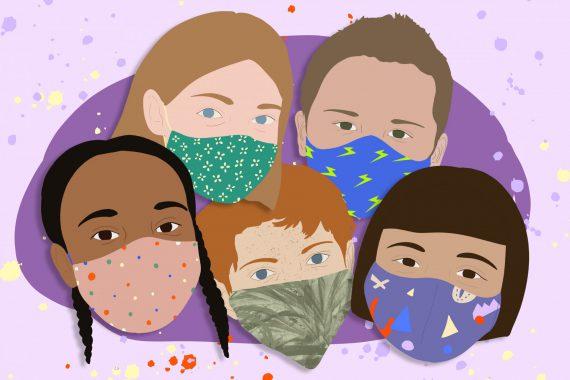 Masken für Kinder Schule