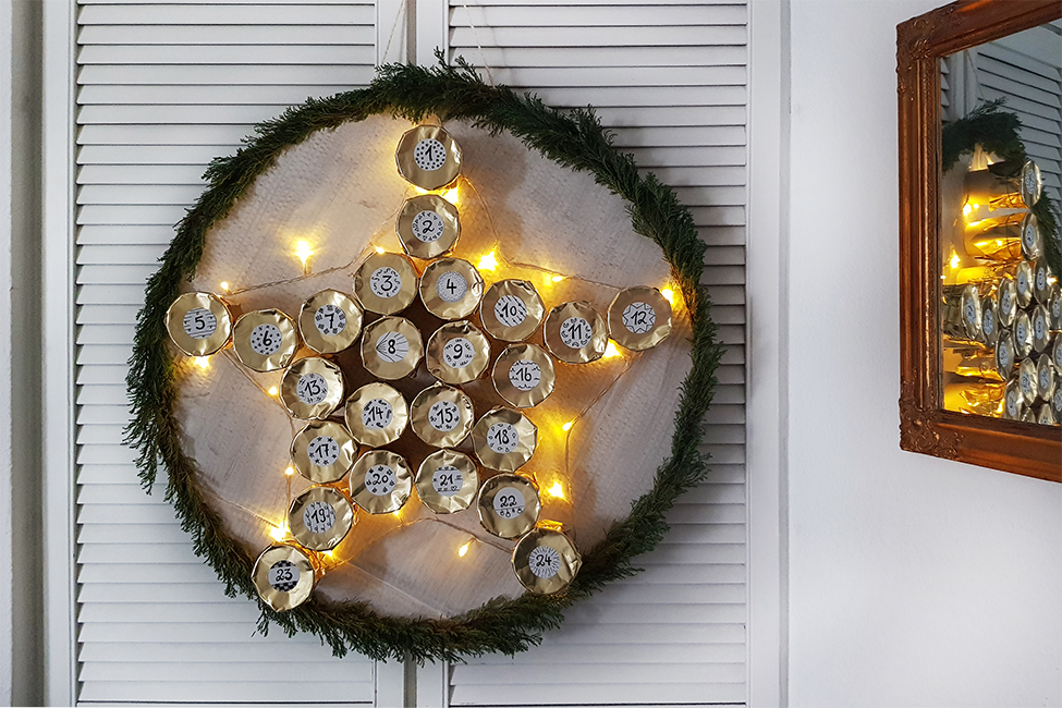 DIY: Leuchtender Stern Adventskalender