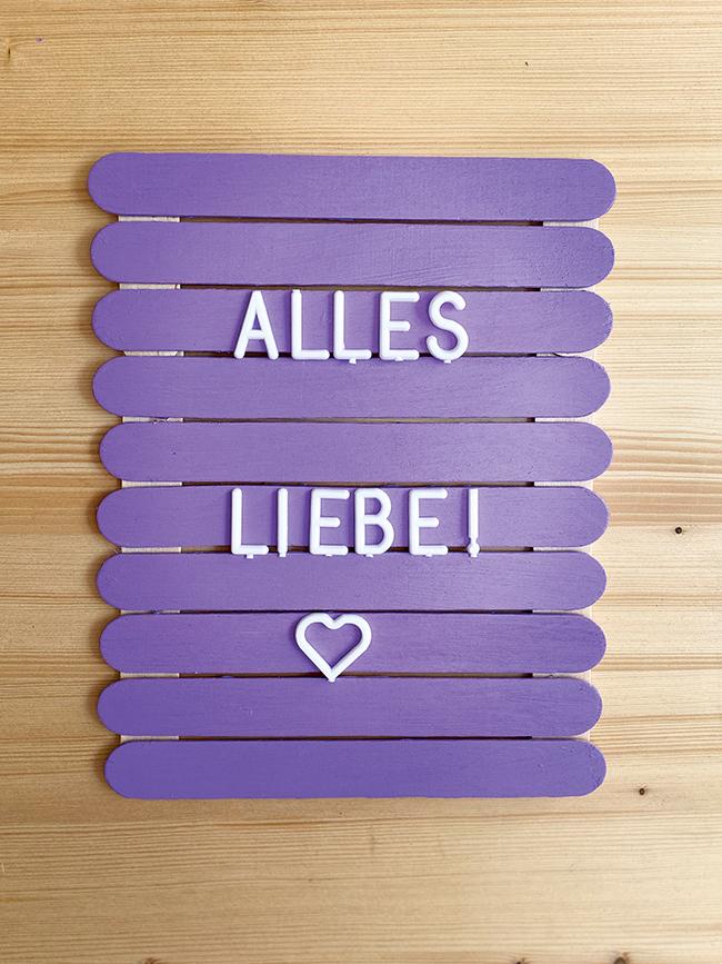 basteln DIY Buchstaben