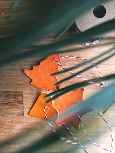 DIY Weihnachten basteln Orangen Weihnachtsbaumanhänger