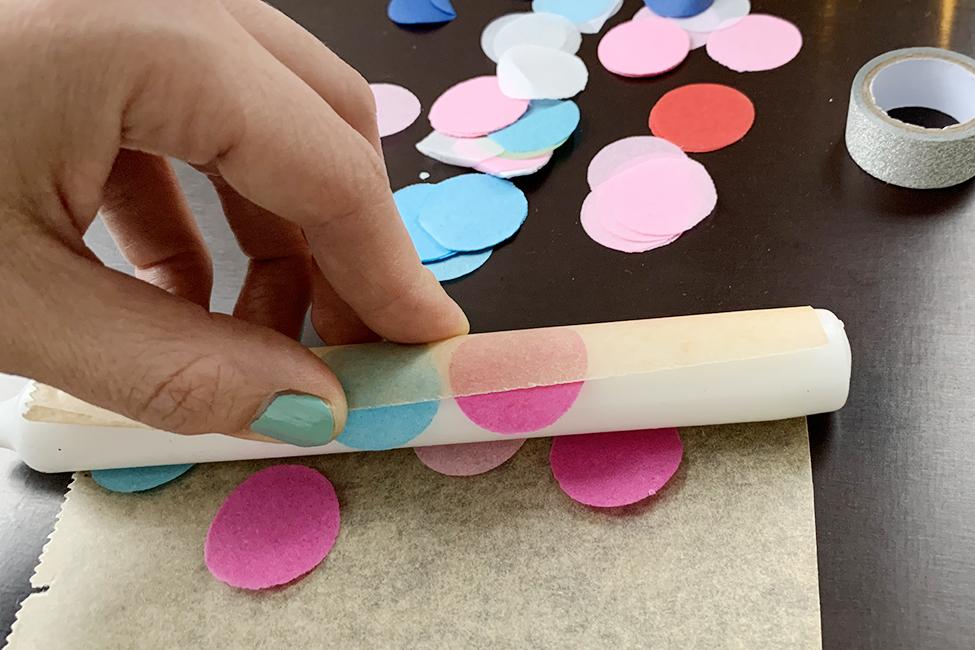 Konfetti-Kerzen selber machen DIY