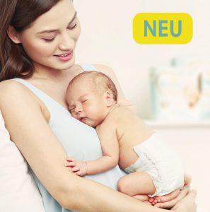 Haut des Babys Windeln Schlaf
