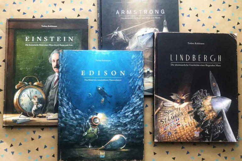 Torben Kuhlmann Bücher Interview Einstein Armstrong Edison Lindbergh