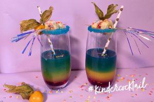 Regenbogen Kindercocktail Fasching Karneval Kidnergeburtstag Getränk Trinken