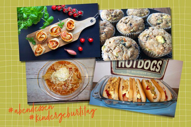 abendessen kindergeburtstag abendbrot rezept ideen buffet geburtstag