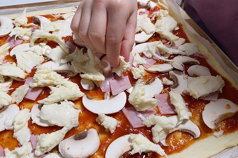 Pizzaschnecken Familienessen